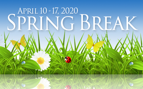 HCS will observe spring break April 10-17.